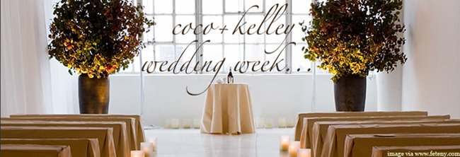 Coco kelley wedding week logo
