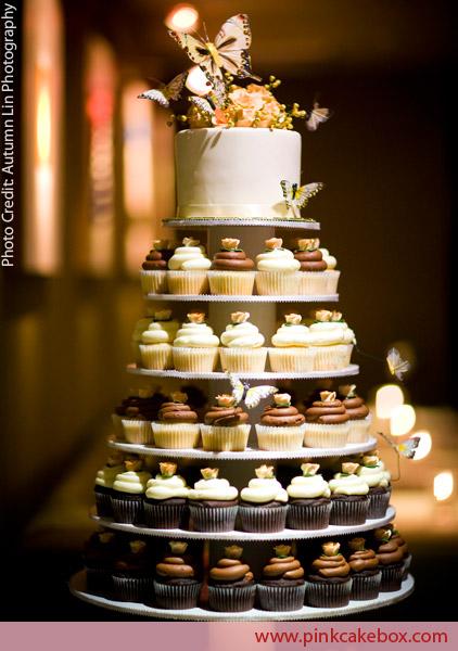 WEDDINGS...by JANE: Love the Cupcake Wedding Cake ~ Wednesday